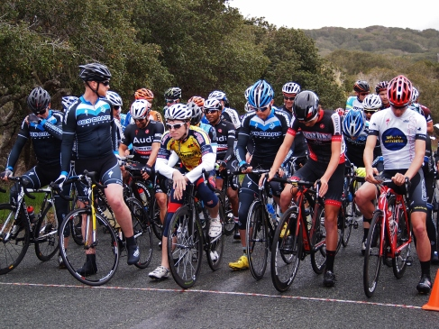 Start line of the Cat 2/3 race