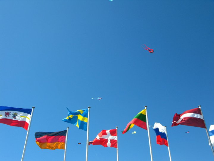 Flags and kites