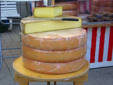 Giant wheels of cheese