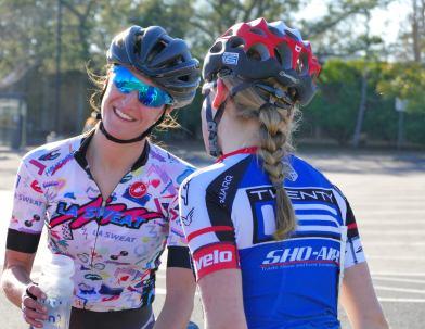 Chatting with Catie Melnarik post-race